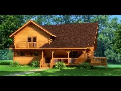 Casas de madera maciza modelo en 3d musica movil - Casas de madera maciza ...