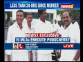 Exclusive visuals : TTV Dinakaran en-route Puducherry stops for lunch with MLAs