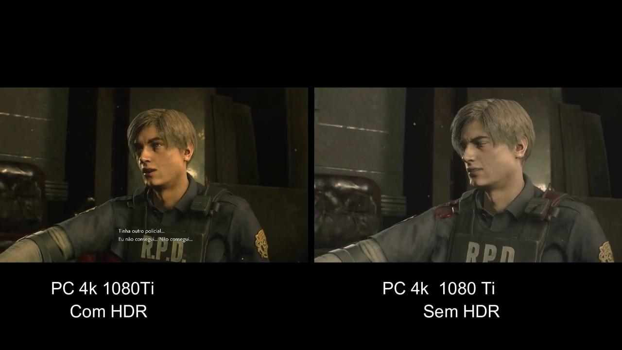 Resident Evil 2 Remake Com e sem HDR 4k 1080 Ti - Tribo Gamer