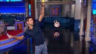 Stephen Faces Off Against Novak Djokovic