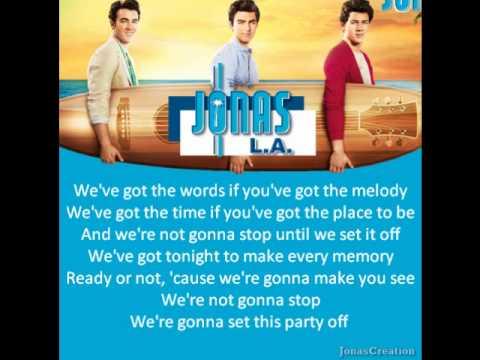 Jonas Brothers Set This Party Off Lyrics You I Do Not