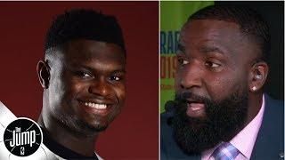 Kendrick Perkins predicts Zion Williamson's rookie year stats, talks dunk contest snub | The Jump