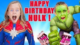 Superhero Birthday Party Surprise! Jokes on Hulk! Kids Fun TV