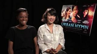 Letitia Wright and Isabella Laughland LOVE music. Urban Hymn interview.