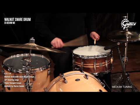 Gretsch Walnut Snare Drum S16514WMI | Buy at Footesmusic