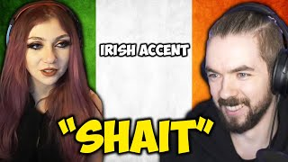 jacksepticeye and minx speaking with Irish accent in front of everybody on rust!!