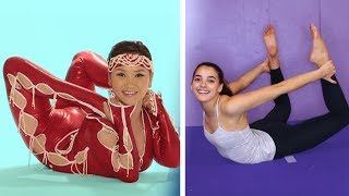 Gymnasts Try Contortion for the First Time