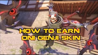Overwatch - How to earn Genji Oni Skin and exciting HOTS goodies