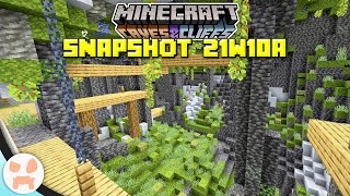 LUSH CAVES, DEEPSLATE CHANGES, + MORE! | Minecraft 1.17 Caves and Cliffs Snapshot 21w10a
