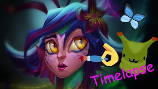 Neeko - Curious Chameleon. League of Legends Fanart  [Timelapse]
