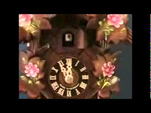 Hones Cuckoo Clock - Carved | Hand Painted Roses | #100RO