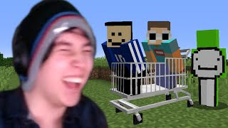 Minecraft, But We Are In A Shopping Cart