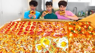 EATING THE WORLD'S LARGEST PIZZA!!