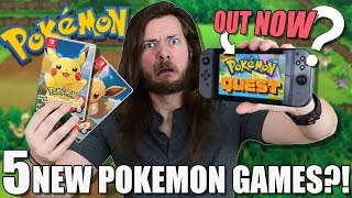 5 NEW POKEMON GAMES COMING TO SWITCH... WHAT?!