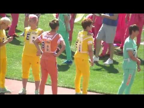 130903 EXO TAO run! Members to watch!@ISAC 寝転ぶタオと見守るメンバー