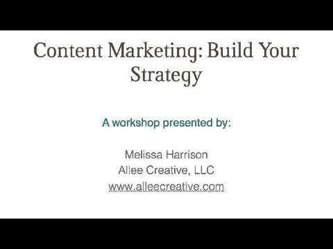 Content Marketing Workshop Preview