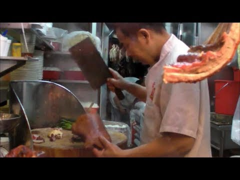 0 Hong Kong Food. Action in the Kitchen of a Chinese Restaurant. Street Food