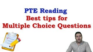 PTE Reading, Multiple Choice Single Answer & Multiple Answer, Awesome  Strategies