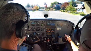 Cessna Landing in a Neighborhood, Challenging Class B Airspace - NorCal Flying!