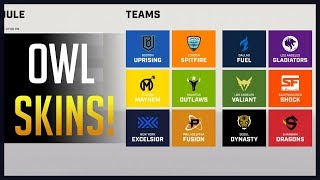 ALL OF THE OVERWATCH LEAGUE NEW SKINS!