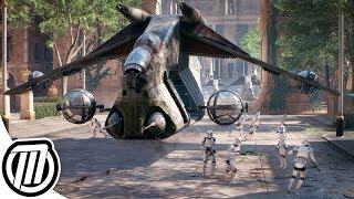 Star Wars Battlefront 2 Clone Army Gameplay   ATRT, Jumptrooper, N1 Starfighter, V-Wing (CLONE WARS)