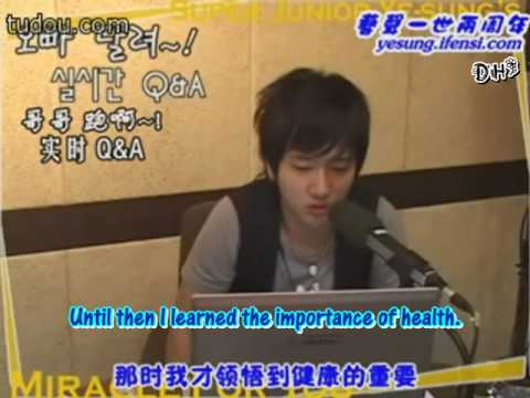 [Eng Sub] Yesung: I've read some YeWook fanfics