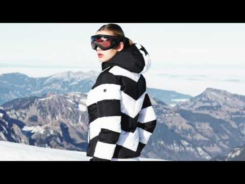 Goldbergh Mitsuko Womens Ski Jacket in Black and White