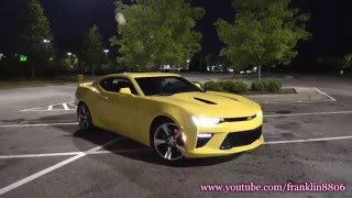 How much gas does the new 2016 Camaro SS burn