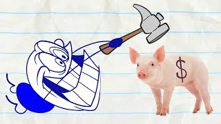 Pencilmate Wants the Money! -in- NOTORIOUS P.I.G - Pencilmation Cartoons for Kids
