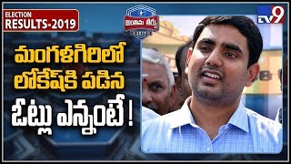 Nara Lokesh very near to defeat in Mangalagiri..