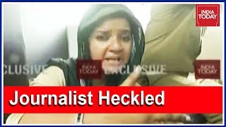 Disturbing visuals of India Today women journos attacked a..