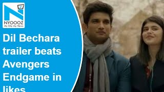 Sushant's Dil Bechara trailer gets 4.8 million likes in le..