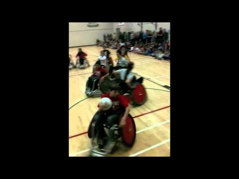 Wheelchair Rugby Schools Program Demo Team at Gilmore Elementary