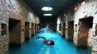 Build Secret Underground Temple With Swimming Pool And Living As Ancient Period