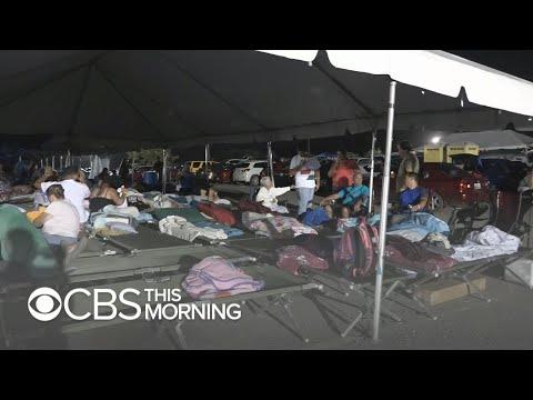 Puerto Ricans sleeping outside as earthquakes continue