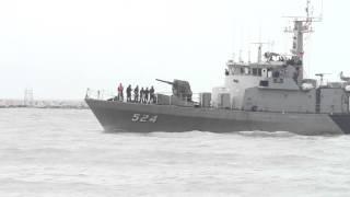 Royal Thai Navy battle ship at Songkhla, Thailand