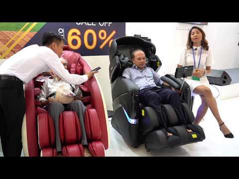 Phỏng vấn khách hàng trải nghiệm ghế massage Tokuyo tại Taiwan Expo 2019