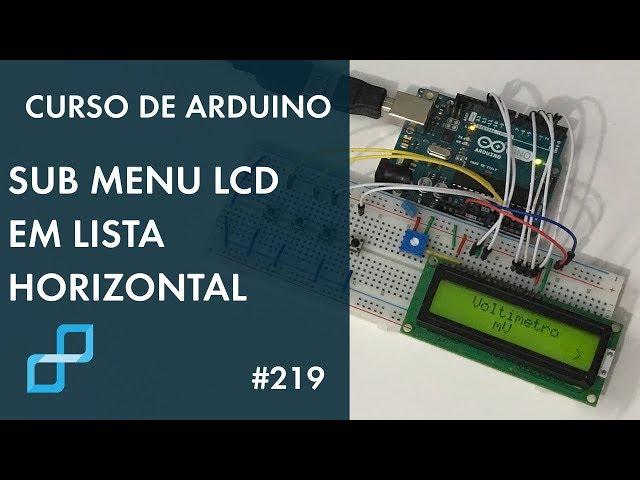 SUB MENUS EM LISTA HORIZONTAL | Curso de Arduino #219