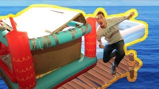 BUILDING A PIRATE SHIP RAFT!