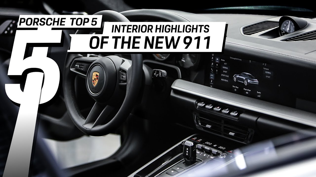 Porsche Top 5 Series: Interior Highlights of the new 911