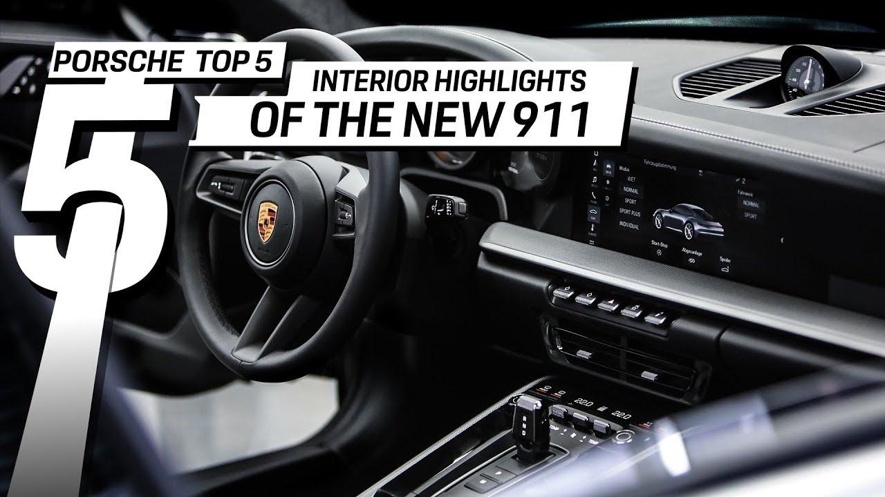 Porsche Top 5 Series: Interieur-Highlights im neuen 911
