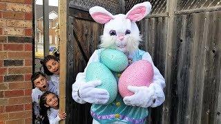 Easter Egg hunt Surprise Toys Challenge for Kids Pretend Play