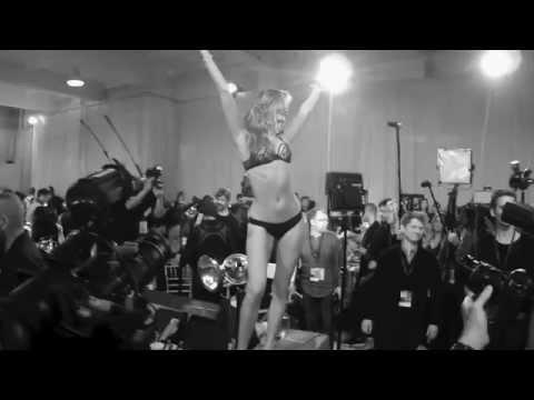 Behati puts on a show backstage - Victoria's Secret