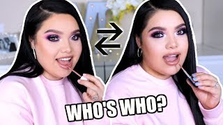 My Twin Sister Copies My Makeup Routine!