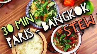 30 Minutes Paris Bangkok Stew ! Jamie Oliver & Uncle Ben's Search for a Food Tube Star