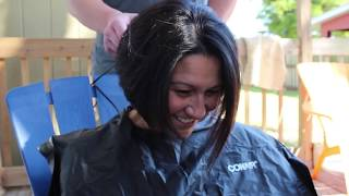 Family Head Shaving In Support of our Sister