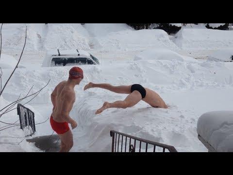 Nuotare nella neve