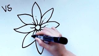 18: Kids' Tutorial - How to Draw a Flower (B) in 2 Minutes | Simple, Easy & Fun | Vivi Santoso
