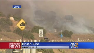 Evacuations Ordered In Fast-Moving Fire In Anaheim Hills