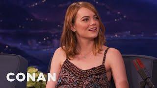 Emma Stone's Late Night Lotion Binging - CONAN on TBS